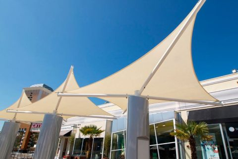 mall shade sails california